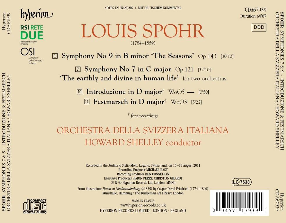 Spohr: Symphonies Nos  7 & 9