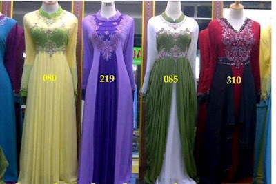 Model Baju Muslim Gamis Bahan Sifon Modern Terbaru