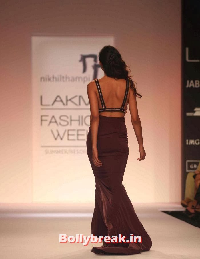 Nikhil Thampi Show at Lakme Fashion Week Summer Resort 2014, Hot Models Walk for Nikhil Thampi Show at Lakme Fashion Week 2014