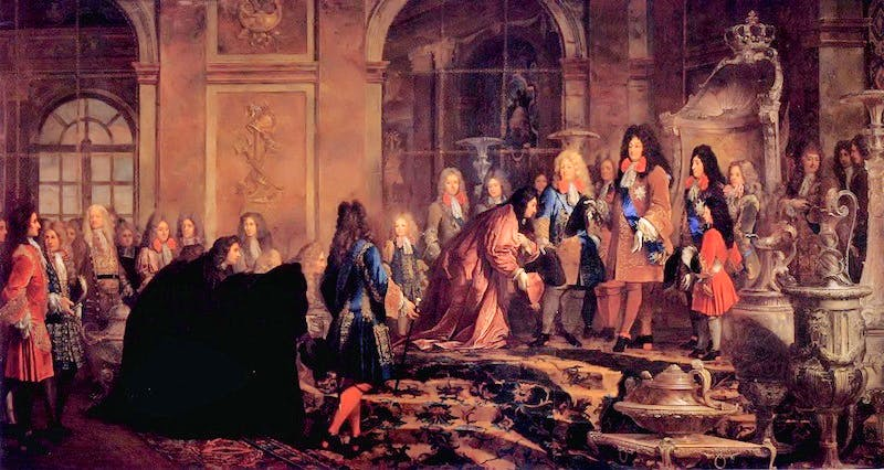 Louis XIV receiving the submission, the Doge of Genoa in May 1685