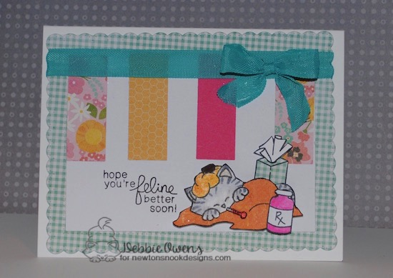 Get Well Card by Debbie Owens featuring Newton's Nook Designs Newton's Sick Day #newtonsnook