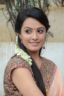 Actress Anitha Picture Gallery in Saree at Mo Okadu Movie Launch  0005