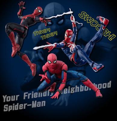 Tres nuevos Spider-man para la linea S.H.Figuarts de Tamashii Nations.