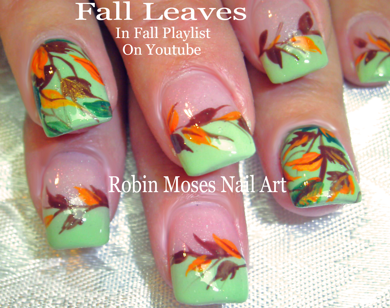 Nail Art by Robin Moses: Fall Nails! Matte Black and Nude Pink ...