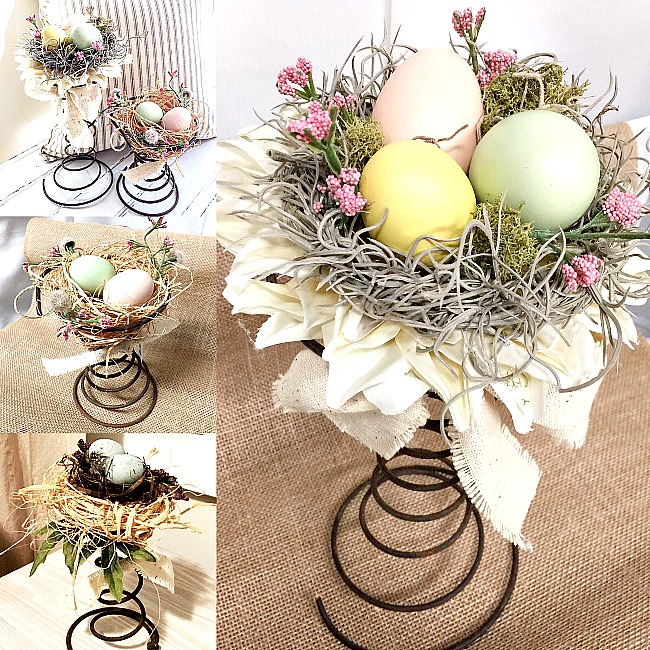 DIY Beautiful Vintage Bed Spring Centerpieces