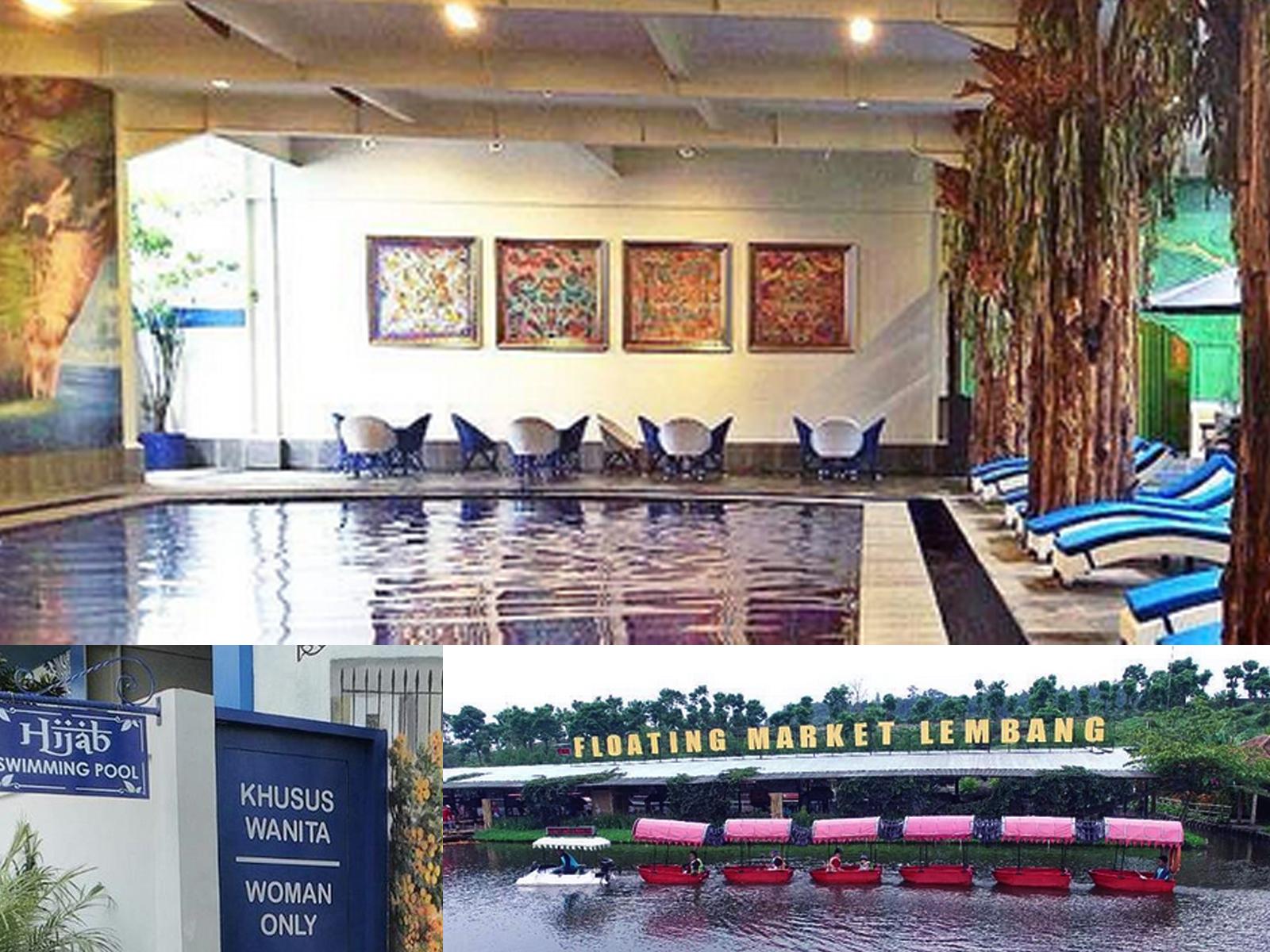 Kolam Renang Hijaber Floating Market Lembang