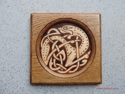 Specklebeast pyrographed design by bod