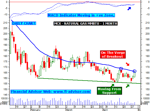 Mcx Natural Gas Support And Resistance