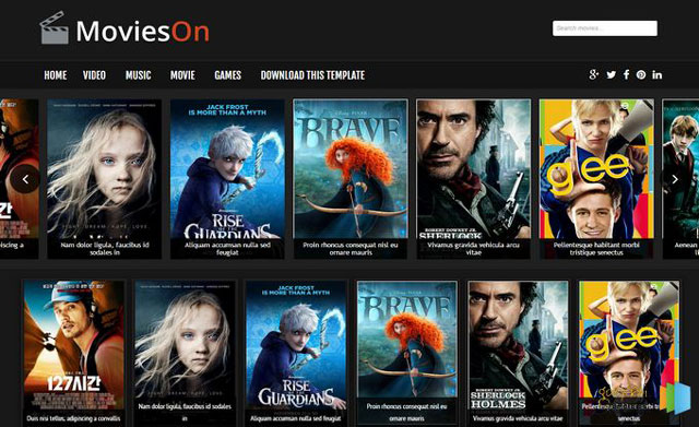 Movies On BlogSpot Template