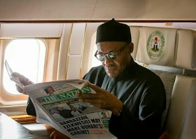 Image result for buhari travelling