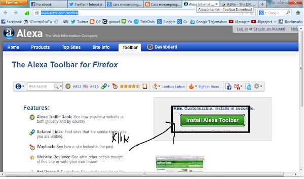 Merampingkan Alexa dengan Alexa Toolbar