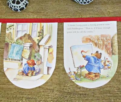 image paddington bear bunting banner garland domum vindemia handmade upcycled etsy