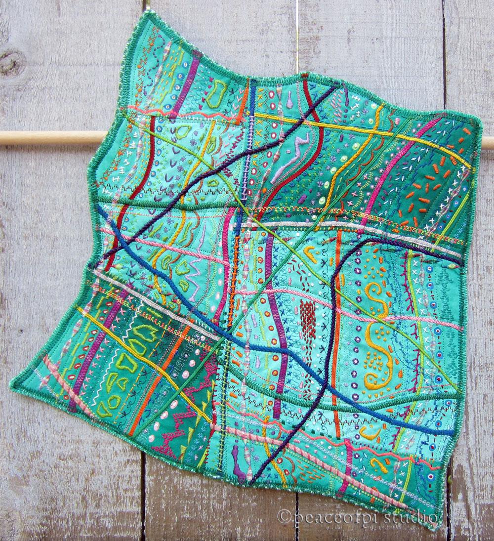 Peaceofpi Studio Hand Embroidery Art Quilt