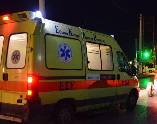 Αργολίδα: Τροχαίο ατύχημα με τραυματίες στον Αχλαδόκαμπο