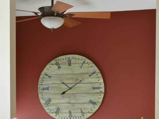 How To Make A Large Rustic Plank Wood Clock