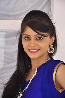 Actress Harisha Krishna Stills in Beautiful Blue Chudiddar  0001.jpg