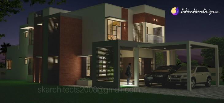 4200 sq ft Modern Villa Design by SK Architects