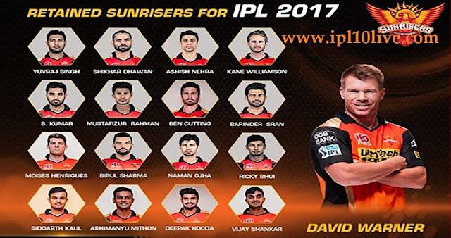 KKR vs SRH IPL Match Live Streaming 15th April 2017