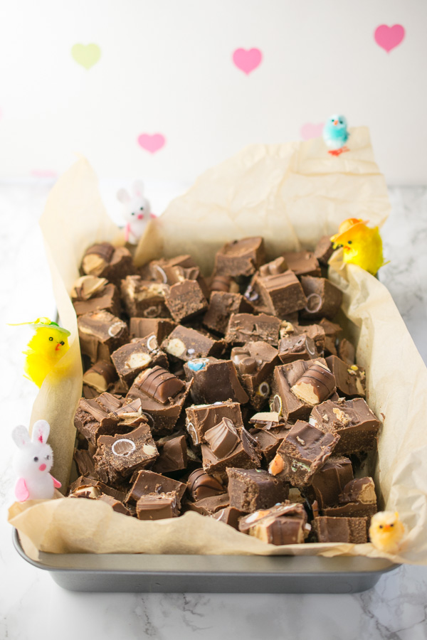 Ideas to use up left over chocolate, No Bake Easter Slice