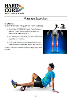 A page from the HardCore Fitness  Foam Roller eBook