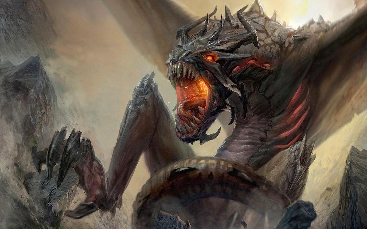Мир Фантазий: Обои на планшет Драконы