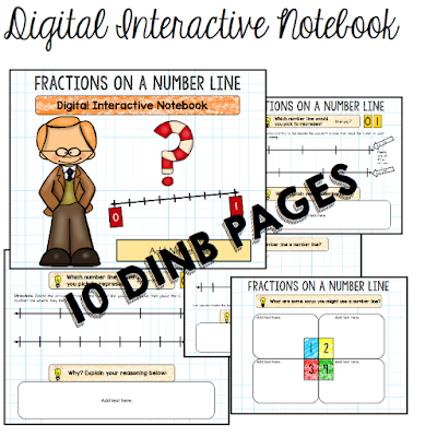 Fractions on a Number Line Interactive Notebook