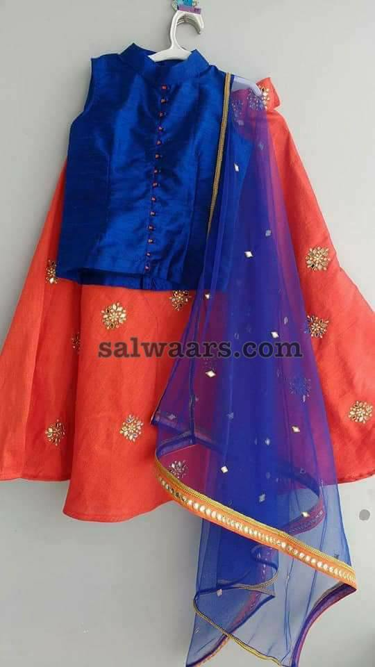 Simple Look Kids Lehenga with Duppatta