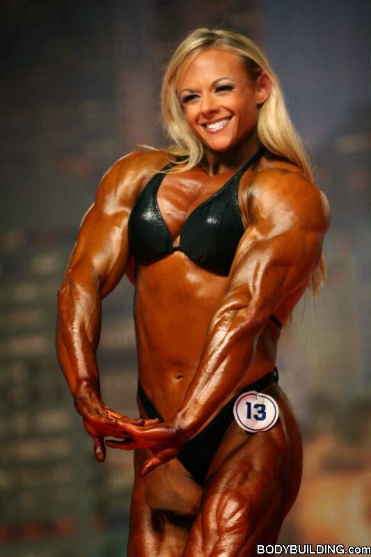 Female bodybuilder Kristy Hawkins