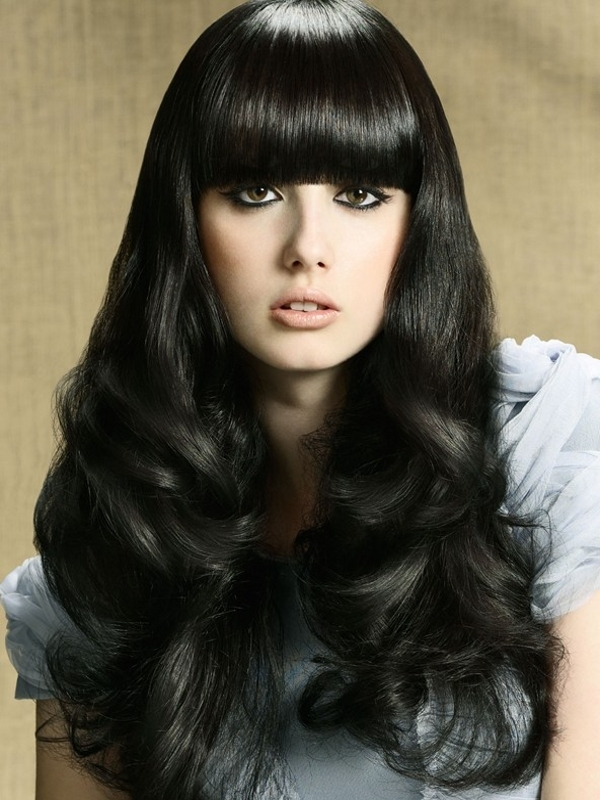 Medium Haircuts With Bangs Fringe Hairstyles 2013 Chic