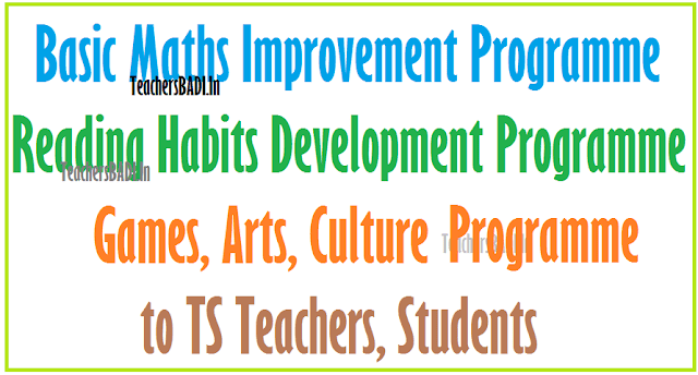 Basic Maths-Reading Habits, Games, Arts, Culture Prgramme to TS Teachers,Students