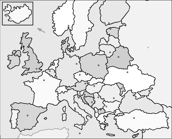 Imprimir Mapa Europa En Blanco.Mapa De Espana En Blanco Y Negro Con Nombres Madrid Org Salud