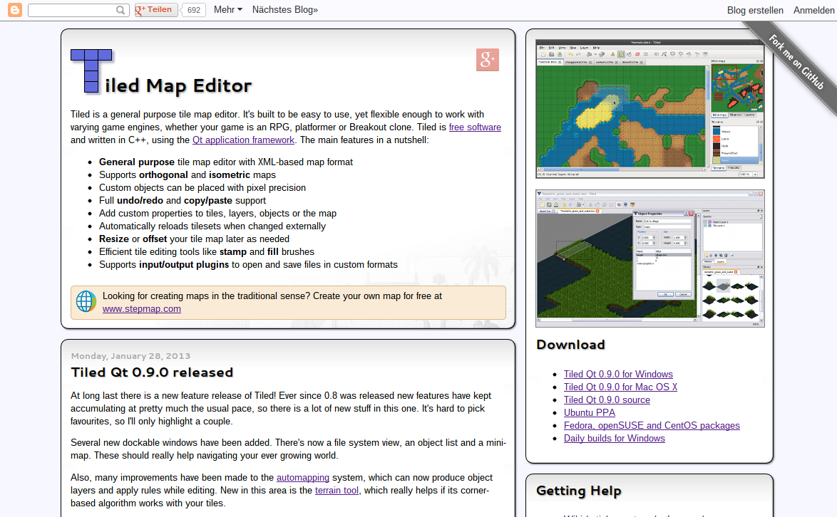 New Tiled website launched | Tiled Map Editor