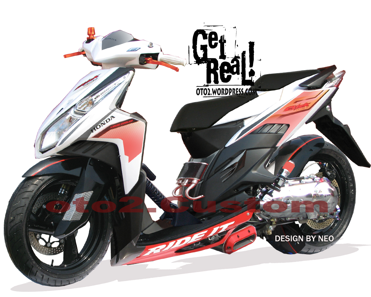 Download Modifikasi Motor Vario 150 Warna Hitam Terkeren Velgy Motor
