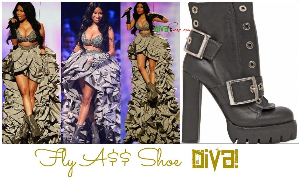 Nicki Minaj Ruffle Dresses