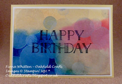 Brusho Crystal Colours, Bokeh Technique, Oakfield Crafts, Stampin' Up! UK