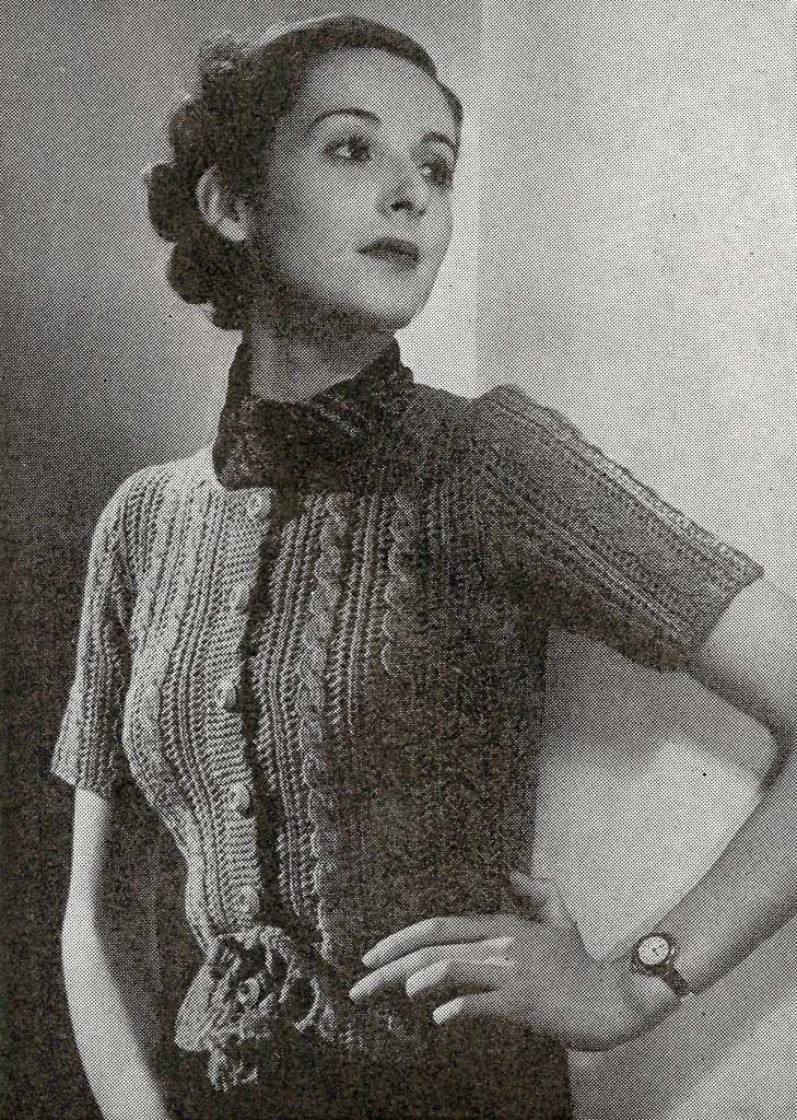 1930s Knitting Patterns : The Vintage Pattern Files: 1930s Knitting - Cable Totem Cardigan
