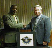 SPFPA PRESIDENT DAVE HICKEY & Convicted Felon & Former SPFPA DC Director Celab A Gray -Burriss