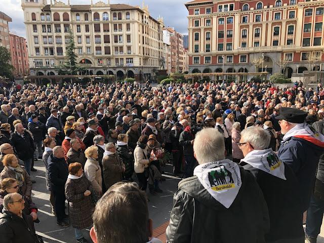 concentración de pensionistas en Barakaldo