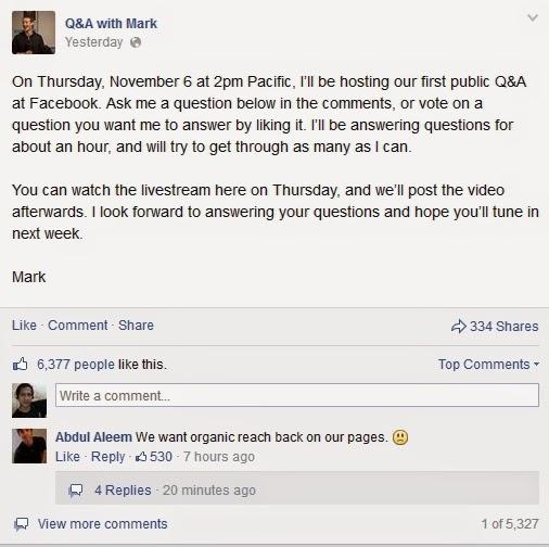Siapa Mau Curhat Dengan Mark Zuckerberg