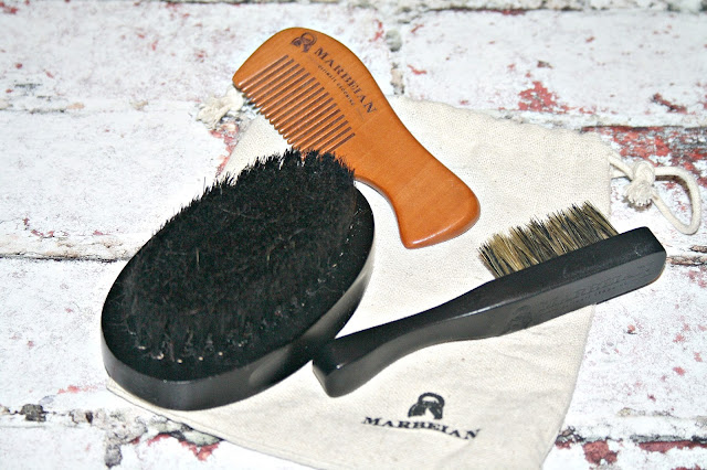 Marbeian Beard & Moustache Brush Travel Kit
