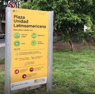 Plaza Unidad Latinoamericana o Plaza Medrano de Buenos Aires