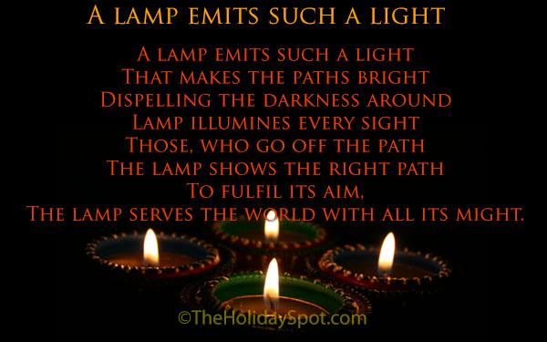 2017 diwali poems 19 october 2017 for Lamp light poem
