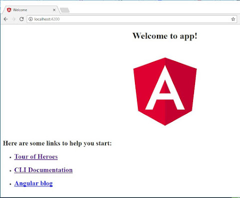 angular welcome app