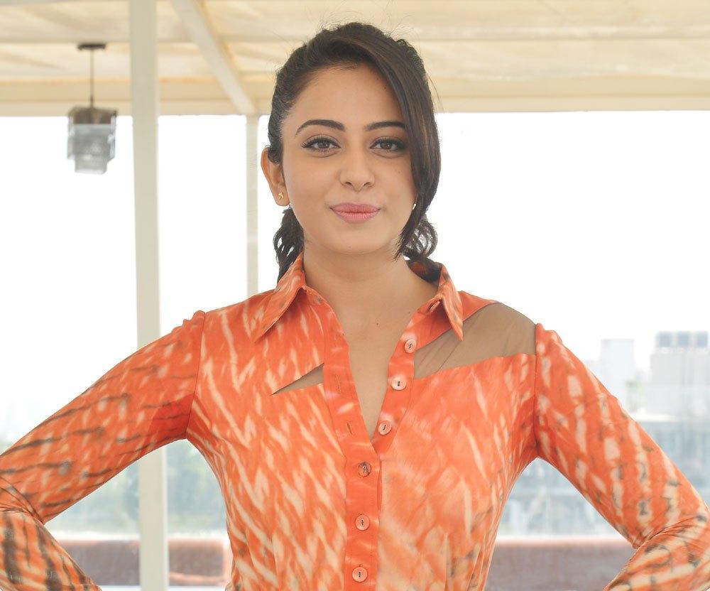 Rakul Preet Singh Latest Photos In Orange Dress