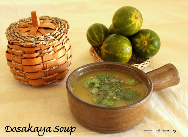 images of Dosakaya Soup / Yellow Cucumber Soup - Easy Soup Recipe