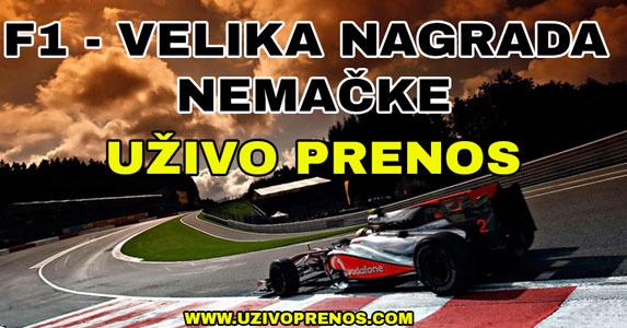 Formula 1: Velika nagrada Nemačke LIVESTREAM