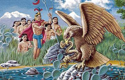 El mito del Águila, la Serpiente y el Nopal