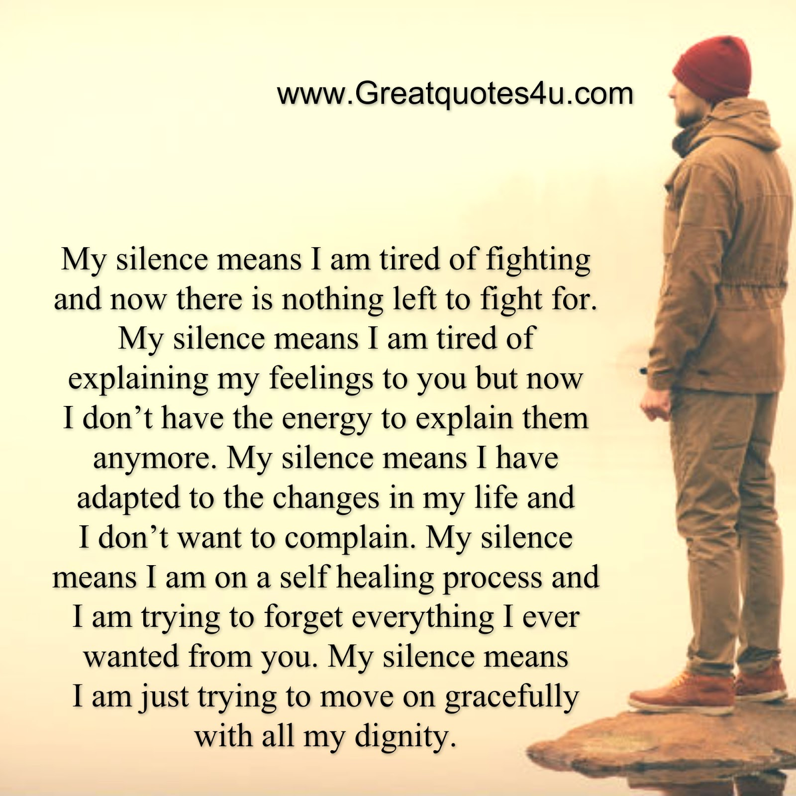 Awesome Quotes: My Silence Means