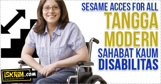 Anak Tangga Ini Bisa Menjadi Lift Bagi Kaum Disabilitas (Patut Ditiru)