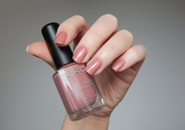 kiko nail lacquer 217 antique pink